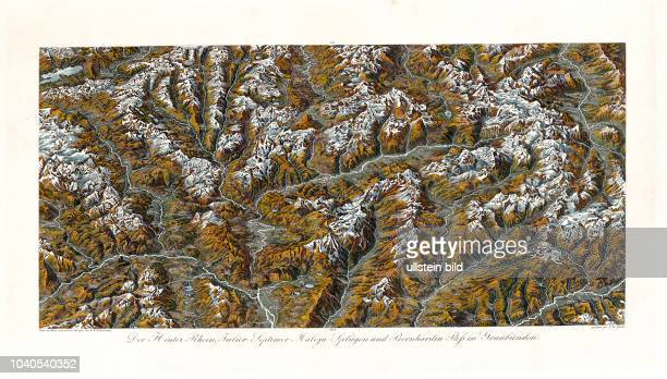 Der HinterRhein JulierSeptimer MalojaSplügen und BerhardinerPaß in Graubünden Nach der Natur aufgenommen und gezeichnet von Friedrich Wilhelm...