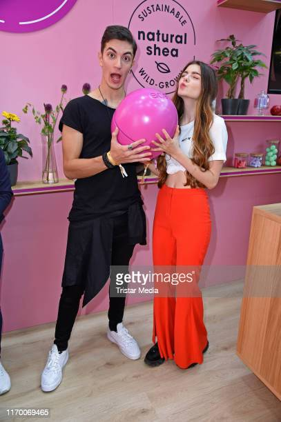 Klaudia Giez and her boyfriend Felipe Simon Soares during the Beauty Convention Glow by DM at The Station on September 21 2019 in Berlin Germany