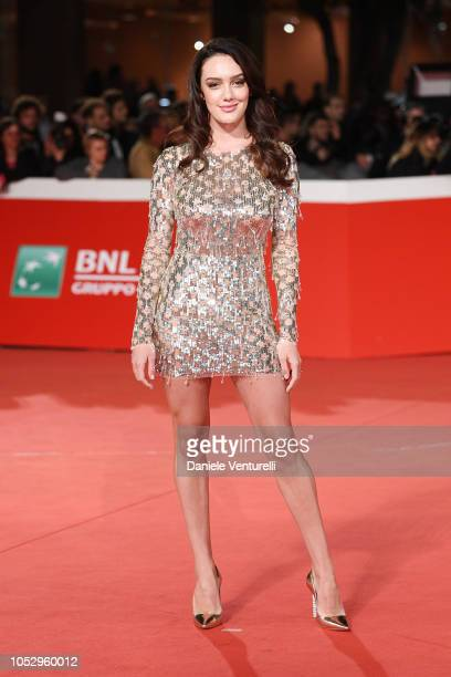 Klaudia Pepa walks the red carpet ahead of the Green Book screening during the 13th Rome Film Fest at Auditorium Parco Della Musica on October 24...