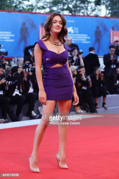 Klaudia Pepa walks the red carpet ahead of the 'mother' screening during the 74th Venice Film Festival at Sala Grande on September 5 2017 in Venice...