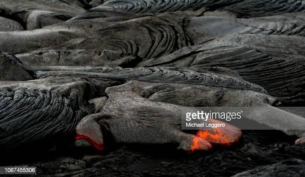 klauea lava flow hawaii - パホア ストックフォトと画像