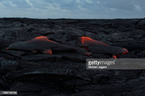 klauea lava flow - パホア ストックフォトと画像