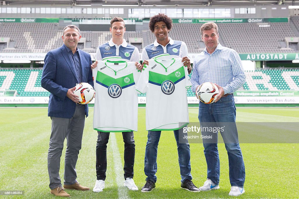 VfL Wolfsburg Unveils New Signings Julian Draxler And Dante