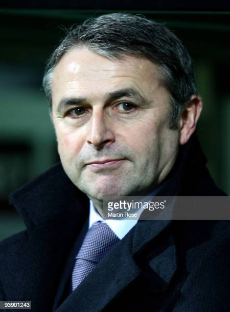Klaus Allofs manager of Bremen seen prior to the UEFA Europa League Group L match between Werder Bremen and CD Nacional at Weser Stadium on December...