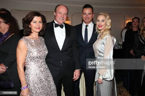 Klaus Bartelmuss manager of Andreas Gabalier and his wife Lydia Bartelmuss and Andreas Gabalier with his girlfriend Fashion designer Silvia Schneider...