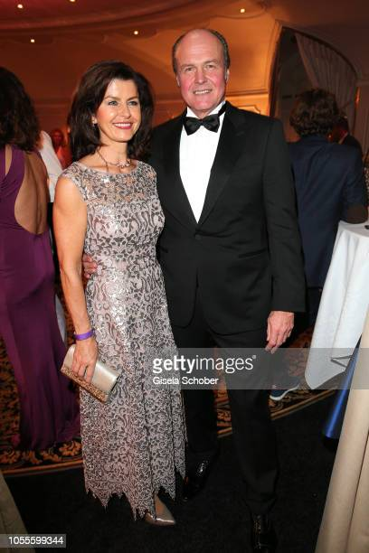 Klaus Bartelmuss manager of Andreas Gabalier and his wife Lydia Bartelmuss during the presentation of the collection 'Dressing Gown' and perfume of...