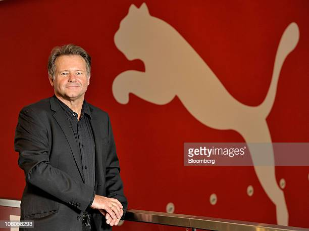 Klaus Bauer chief financial officer of Puma AG poses prior to the company's news conference in Herzogenaurach Germany on Tuesday Oct 26 2010 Puma AG...