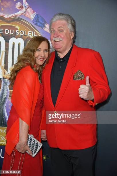 Klaus Baumgart and his wife Ilona Baumgart attend the Cirque du Soleil 'Paramour Das Musical' premiere on April 14 2019 in Hamburg Germany