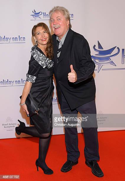 Klaus Baumgart and wife Ilona SchultzBaumgart attend Holiday on Ice Passion Gala at Hotel Atlantic on October 30 2014 in Hamburg Germany