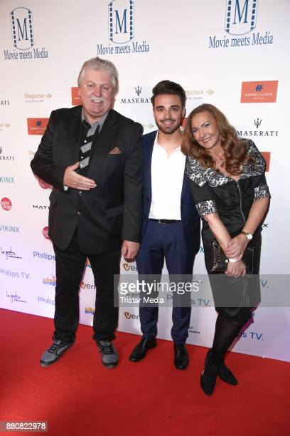 Klaus Baumgart with his wife Ilona Baumgart and his son attend the Movie Meets Media event 2017 at Hotel Atlantic Kempinski on November 27 2017 in...