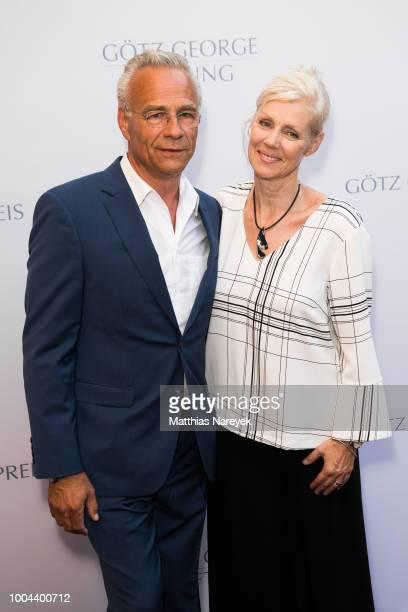 Klaus Behrendt and Marika George attend the Goetz George Award at Astor Film Lounge on July 23, 2018 in Berlin, Germany.