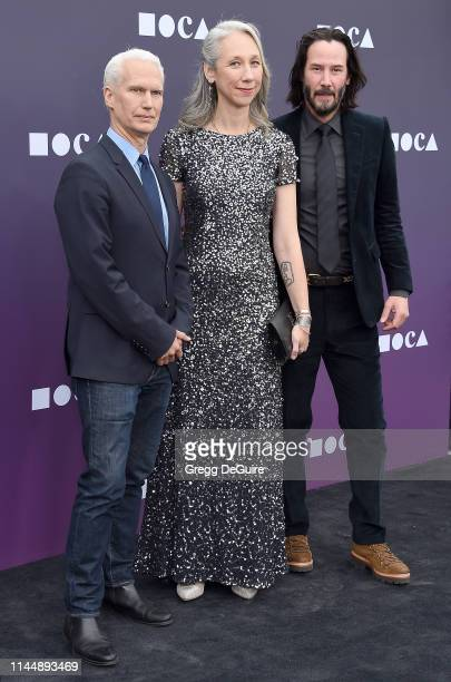 Klaus Biesenbach a guest and Keanu Reeves attend the MOCA Benefit 2019 at The Geffen Contemporary at MOCA on May 18 2019 in Los Angeles California