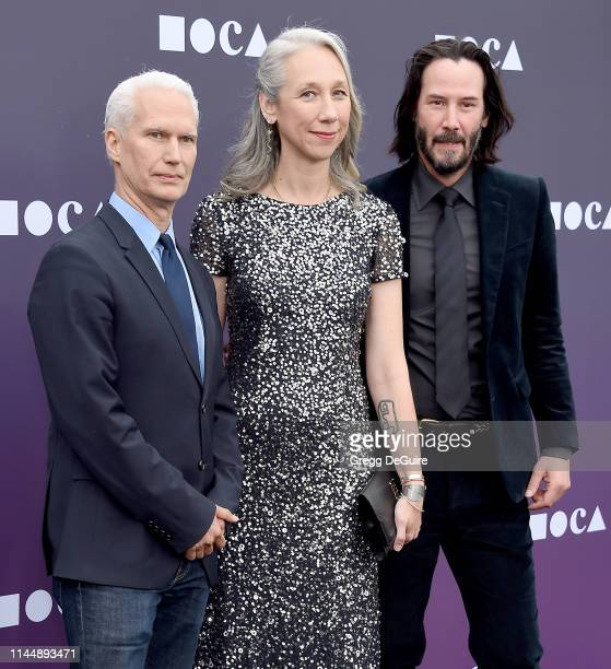 Klaus Biesenbach Alexandra Grant and Keanu Reeves attend the MOCA Benefit 2019 at The Geffen Contemporary at MOCA on May 18 2019 in Los Angeles...