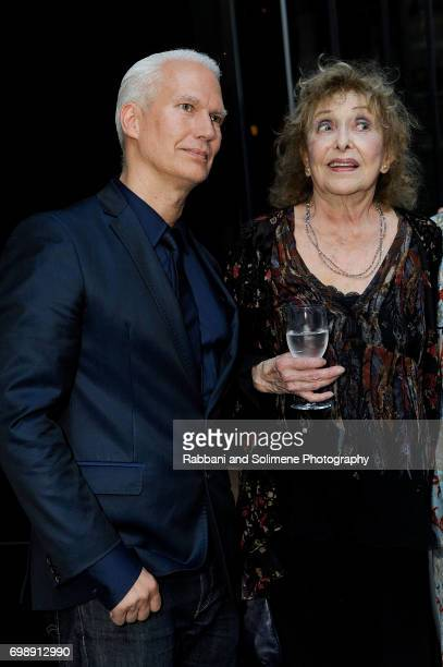 Klaus Biesenbach and Carolee Schneemann attend the 2017 MoMA PS1 benefit gala at The Museum of Modern Art on June 20 2017 in New York City