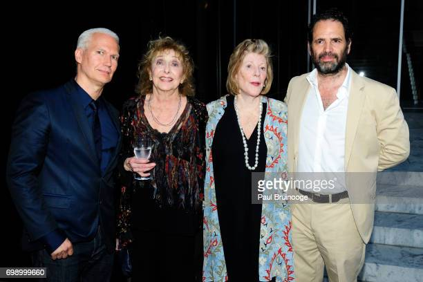 Klaus Biesenbach Carolee Schneemann Agnes Gund and Gavin Brown attend 2017 MoMA PS1 Benefit Gala at The Museum of Modern Art on June 20 2017 in New...
