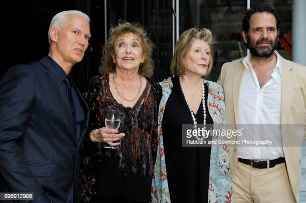 Klaus Biesenbach Carolee Schneemann Agnes Gund and guest attends the 2017 MoMA PS1 benefit gala at The Museum of Modern Art on June 20 2017 in New...