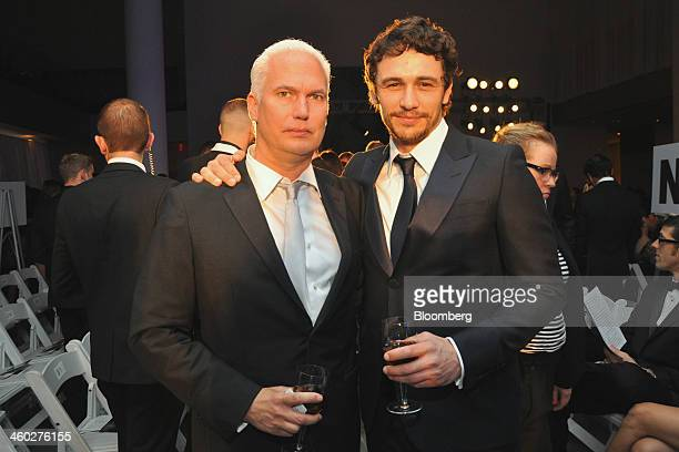 Klaus Biesenbach director of MoMA/PS 1 left and actor Franco attend the second annual American Foundation for AIDS Research Inspiration Gala at the...