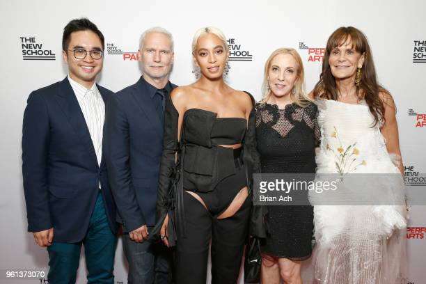 Klaus Biesenbach Solange Knowles Susan Rockefeller and Julie Gilhart attend the 70th Annual Parsons Benefit on May 21 2018 in New York City