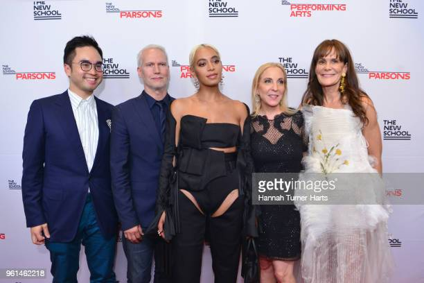 Klaus Biesenbach Solange Knowles Susan Rockefeller and Julie Gilhart attend the 70th Annual Parsons Benefit at Pier Sixty at Chelsea Piers on May 21...