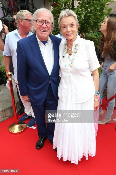 Klaus Doldinger and his wife Inge Beck during the Bavaria Film reception during the Munich Film Festival 2017 at Kuenstlerhaus am Lenbachplatz on...