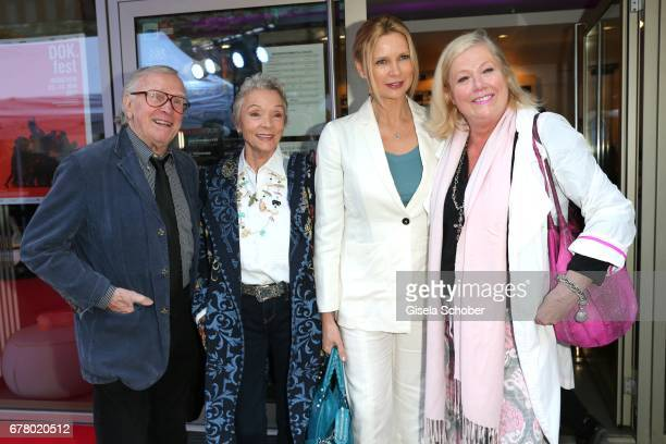 Klaus Doldinger and his wife Inge Beck Veronica Ferres and fashion designer Susanne Webe during the premiere of the movie 'Rueckkehr nach Montauk' at...