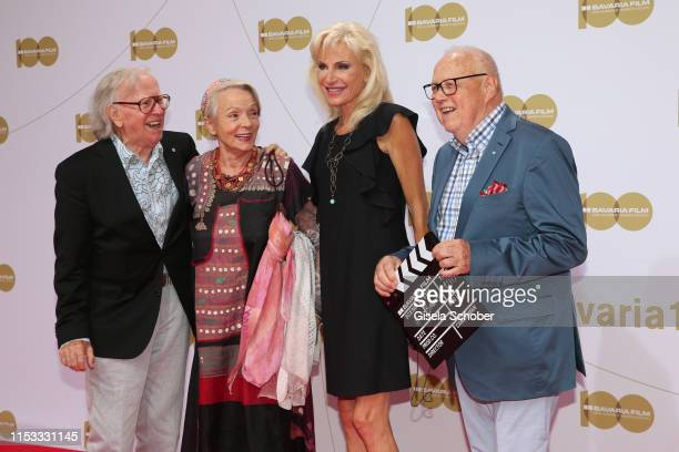 Klaus Doldinger and his wife Inge Doldinger and Joseph Vilsmaier and his partner Birgit Muth during the Bavaria Film Reception One Hundred Years in...