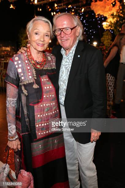 Klaus Doldinger and his wife Inge Doldinger during the Bavaria Film Reception One Hundred Years in Motion on the occasion of the 100th anniversary of...