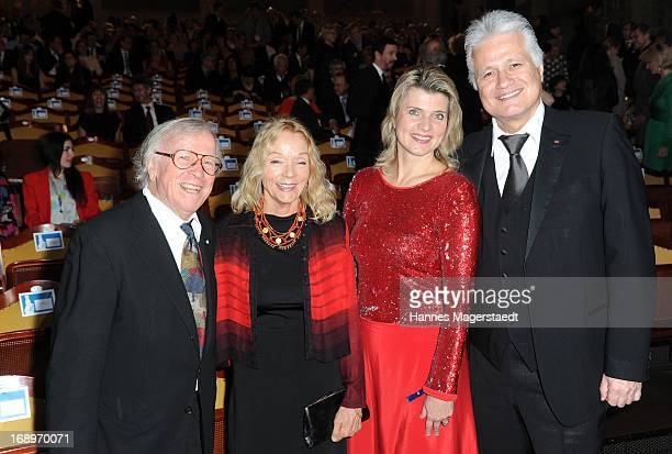 Klaus Doldinger and his wife Inge Doldinger Guido Knopp and is wife Gabriella Knopp attend the 'Bayerischer Fernsehpreis 2013' at...