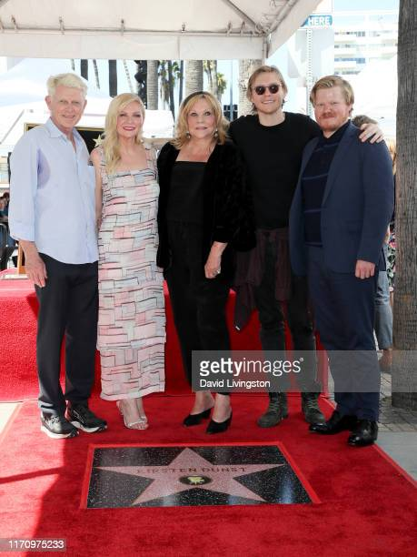 Klaus Dunst Kirsten Dunst Inez Rupprecht Christian Dunst and Jesse Plemons attend the ceremony honoring Kirsten Dunst with a star on the Hollywood...