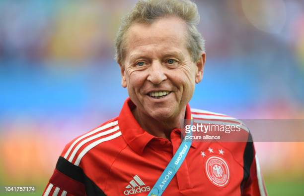 Klaus Eder, physiotherapist of the German national soccer team, seen during the FIFA World Cup 2014 group G preliminary round match between Germany...