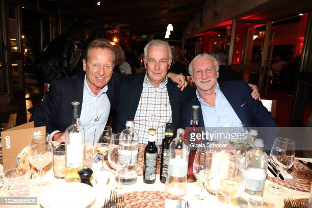 Klaus Eder, Rainer Bonhof, Rudi Voeller during the welcome reception prior to the 30th anniversary celebration of the German World Cup win at 1990 on...