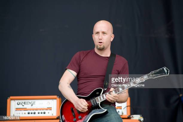 Klaus Eichstadt of American rock band Ugly Kid Joe performing live onstage at Download Festival June 10 2012