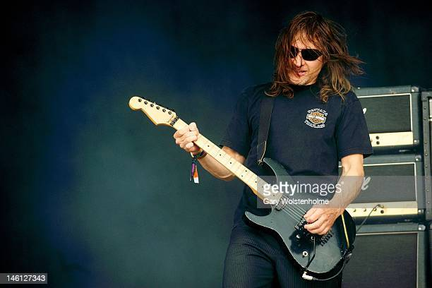 Klaus Eichstadt of Ugly Kid Joe performs on stage during Download Festival at Donington Park on June 10 2012 in Castle Donington United Kingdom