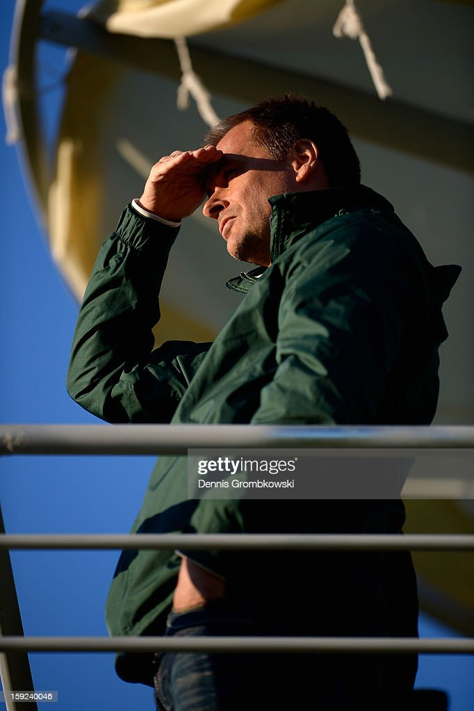 Klaus Filbry, CEO of Werder Bremen, looks on during a training session at day six of the Werder Bremen Training Camp on January 10, 2013 in Belek, Turkey.