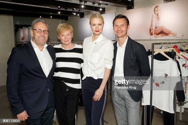 Klaus Friedrich Doris Straetker Franziska Knuppe and Heiko Schaefer during the presentation of her new Spring/Summer 2018 collection for Bonita at P7...