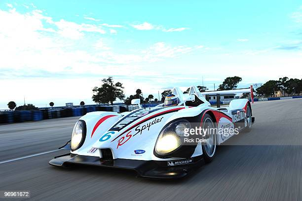 Klaus Graf of Germany drives the Team Cytosport Porsche RS Spyder during the American Le Mans Series Winter Test at Sebring International Raceway...