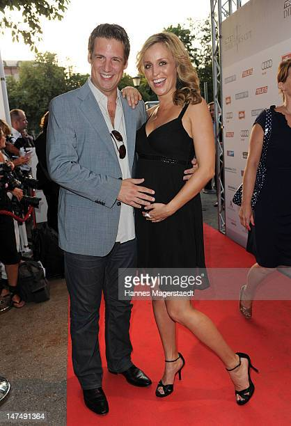 Klaus Gronewald and his girlfriend SandraMaria Meier attend the 'Tele 5 Director's Cut' during the Munich Film Festival at the Praterinsel on June 30...