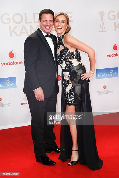 Klaus Gronewald and his wife Sandra Maria Gronewald attend the Goldene Kamera 2016 on February 6 2016 in Hamburg Germany