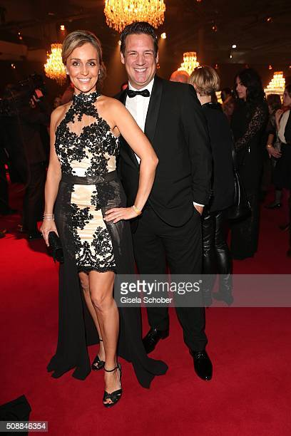 Klaus Gronewald and his wife Sandra Maria Gronewald during the Goldene Kamera 2016 reception on February 6 2016 in Hamburg Germany