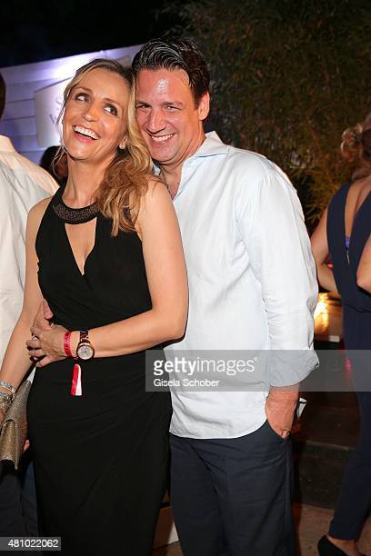 Klaus Gronewald and his wife Sandra Maria Gronewald during the New Faces Award Fashion 2015 on July 16 2015 at P1 in Munich Germany
