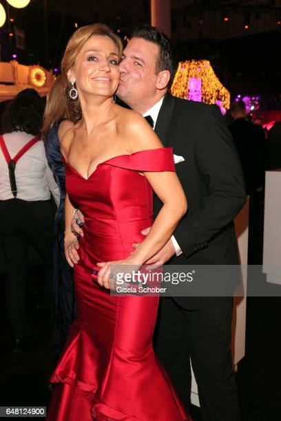 Klaus Gronewald and his wife Sandra Maria Gronewald during the Goldene Kamera after show party at Messe Hamburg on March 4 2017 in Hamburg Germany
