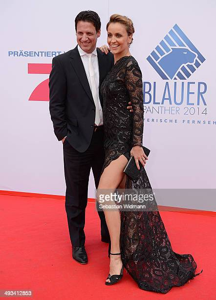Klaus Gronewald and Sandra Maria Alice Gronewald arrive at Prinzregententheater on May 23 2014 in Munich Germany