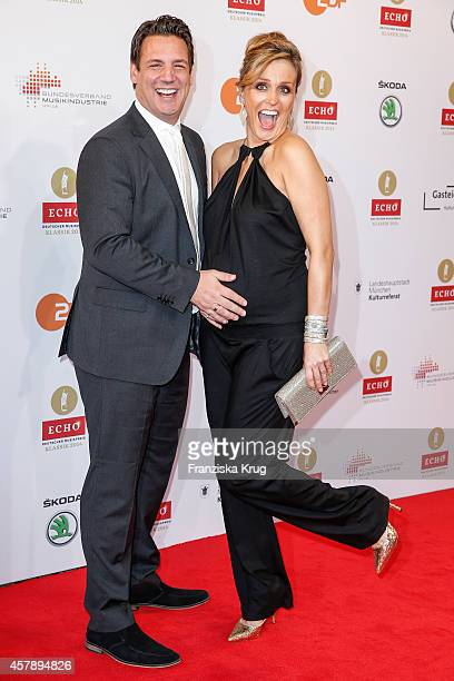 Klaus Gronewald and Sandra Maria Gronewald attend the ECHO Klassik 2014 on October 26, 2014 in Munich, Germany.