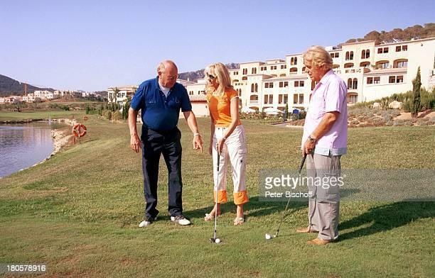 Klaus Habermann Judith und Mel Jersey Camp de Mar/Mallorca/Spanien Golfplatz Golfschläger Golfball Sonnenbrille Dorint 5Sterne Hotel