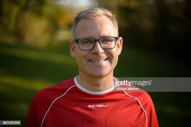 Klaus Heinzmann participant of a longterm study on the health comparison of people active in sports and people who are not active in sports stands in...