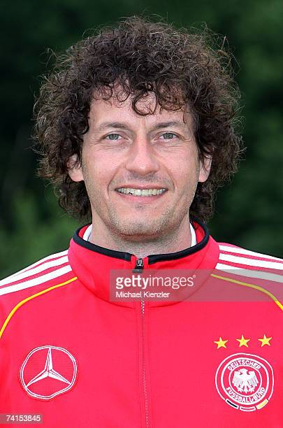 Klaus Hilt of the U18 German National Team poses during a photo call at LangensteinStadion on May 15 2007 in WaldshutTiengen Germany