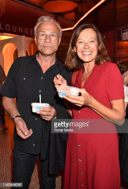 Klaus J Behrendt and Angela Roy attend the Goetz George Award at Astor Film Lounge on August 19 2019 in Berlin Germany