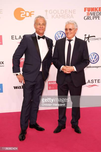 Klaus J Behrendt and Henry Hübchen attend the Goldene Kamera at Tempelhof Airport on March 30 2019 in Berlin Germany