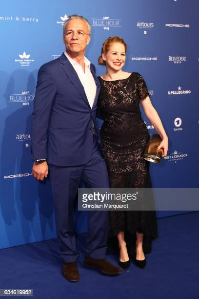 Klaus J Behrendt and Jasmin Schwiers attend the Blue Hour Reception hosted by ARD during the 67th Berlinale International Film Festival Berlin on...