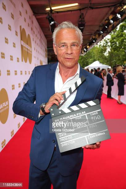 "Klaus J. Behrendt attends the Bavaria Film Reception ""One Hundred Years in Motion"" on the occasion of the 100th anniversary of the Bavaria Film..."